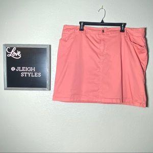 Coral Pink Skort with Pockets